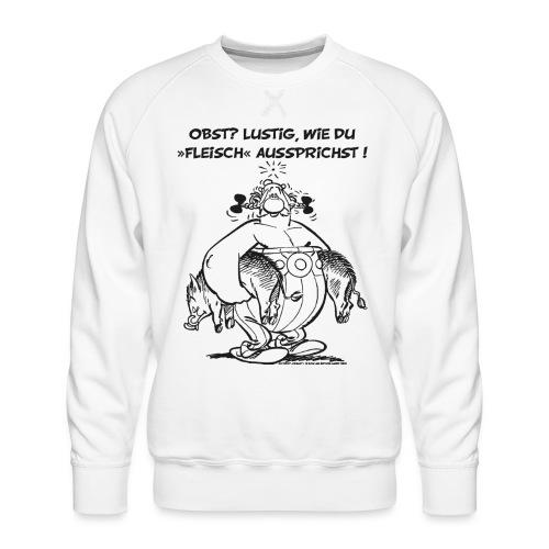 Asterix Obelix Obst Fleisch lineart - Sweat ras-du-cou Premium Homme