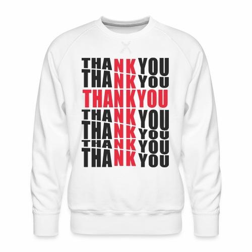 Motyw z napisem Thank You - Bluza męska Premium