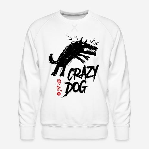 verrückter verrückter Hund - Männer Premium Pullover