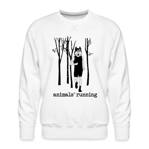 Loup running - Sweat ras-du-cou Premium Homme