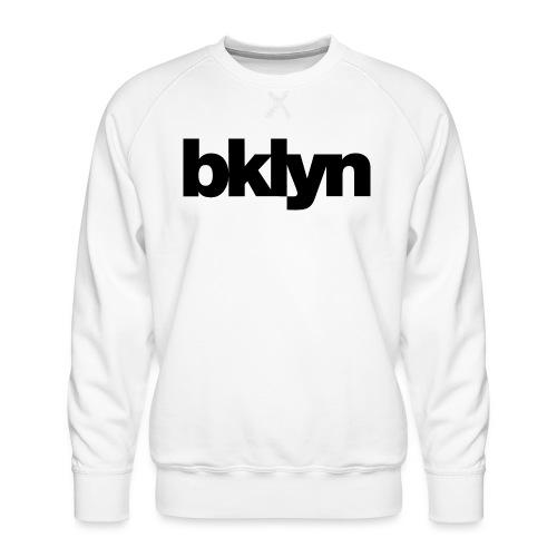 bklyn ⁄ jazz (white) - Men's Premium Sweatshirt