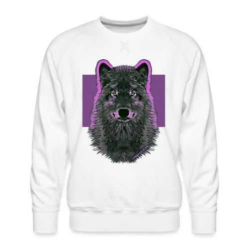 WOLF PINK IN LOVE - Männer Premium Pullover