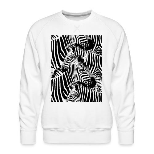 Zebras - Sudadera premium para hombre