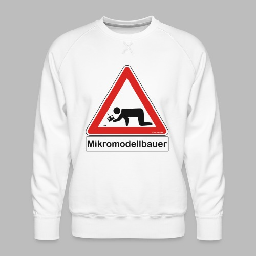 Warnschild Mikromodellbauer Auto - Männer Premium Pullover
