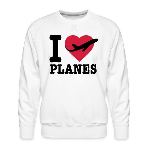 Uwielbiam samoloty - czarne - Bluza męska Premium