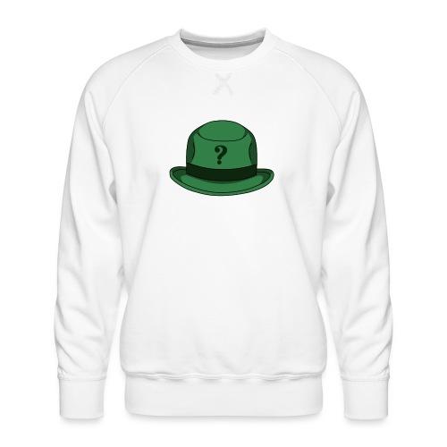 Grüner Rätsel Hut Riddler - Männer Premium Pullover