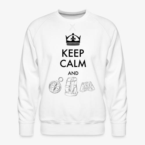 keepcalmandexplore - Men's Premium Sweatshirt