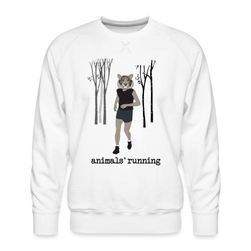 Tigre gris running - Sweat ras-du-cou Premium Homme