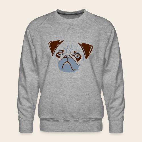 otiz mops kopf 2farbig - Männer Premium Pullover
