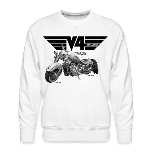 V4 Motorcycles black Wings - Männer Premium Pullover