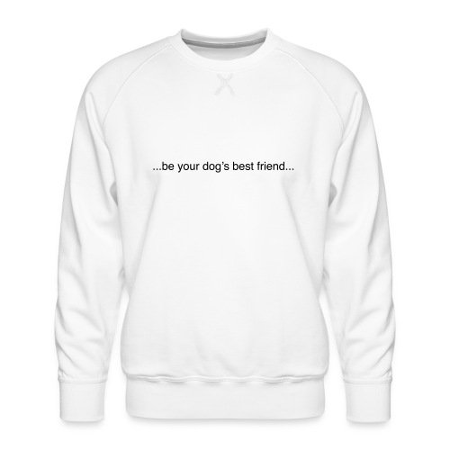 GoodBad svart CMYK (1) - Men's Premium Sweatshirt