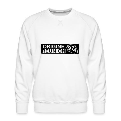 Origine Réunion 974 - v2 - Sweat ras-du-cou Premium Homme