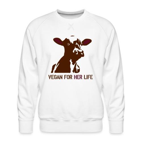 vegan for her life - Männer Premium Pullover