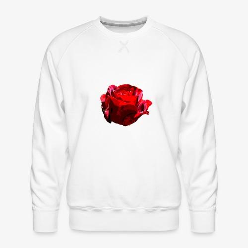 Red Rose - Männer Premium Pullover
