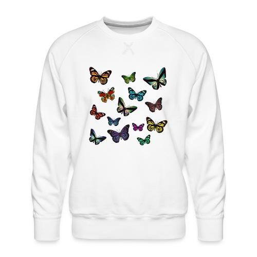 Butterflies flying - Premiumtröja herr