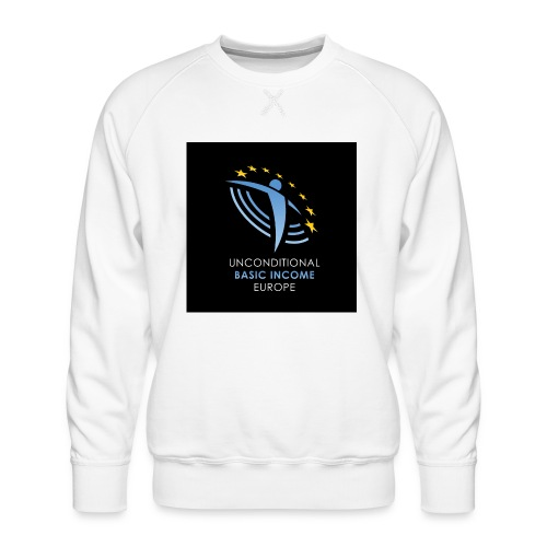02 ubie on black centered square jpg - Mannen premium sweater