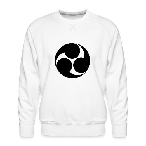 Kobayakawa Mon Japanese clan black - Men's Premium Sweatshirt