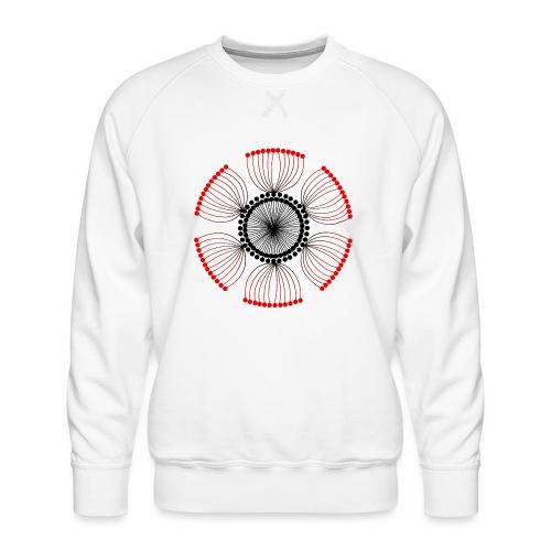 Red Poppy Seeds Mandala - Men's Premium Sweatshirt