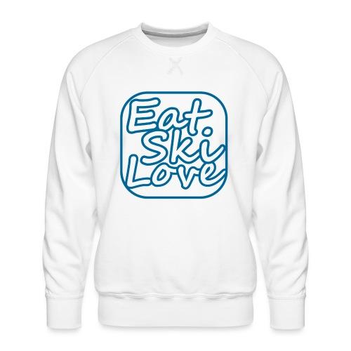 eat ski love - Mannen premium sweater