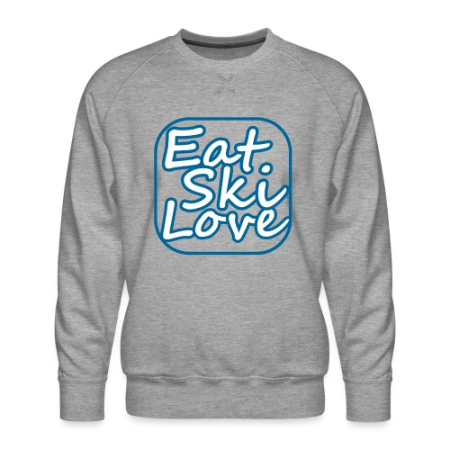 eat ski love - Mannen premium sweater