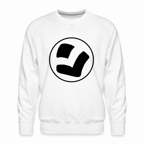 LaidPark Black Logo - Miesten premium-collegepaita