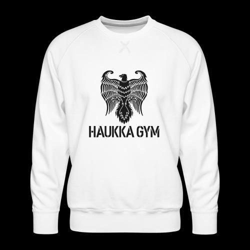 HAUKKA GYM LOGO - Miesten premium-collegepaita