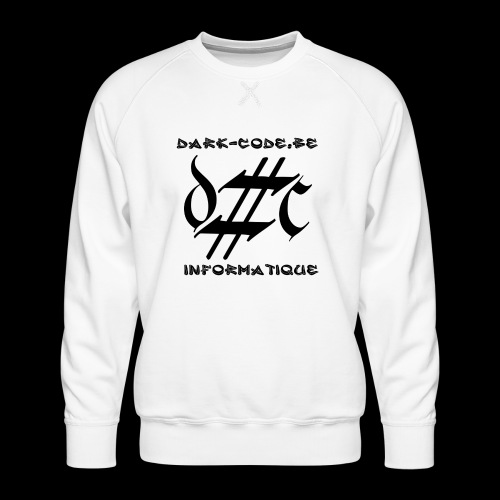 Dark-Code Black Gothic Logo - Sweat ras-du-cou Premium Homme