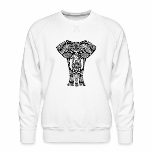 Ażurowy słoń - Bluza męska Premium