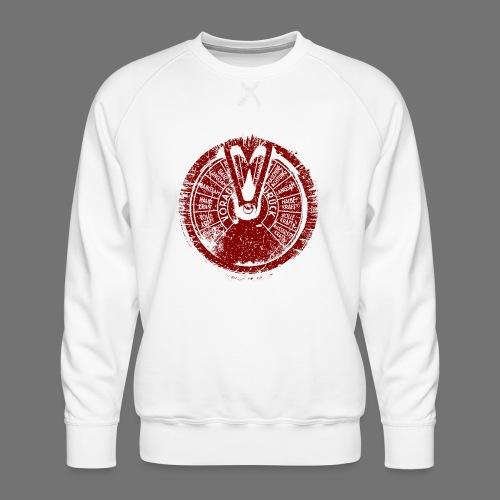 Maschinentelegraph (rød oldstyle) - Herre premium sweatshirt