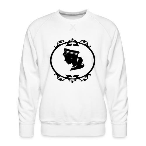 Mädel oval 1 farbig - Männer Premium Pullover