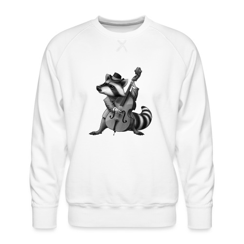 Racoon Musician - Männer Premium Pullover