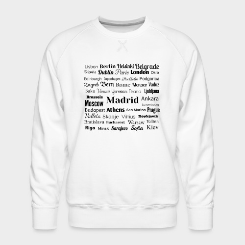 European capitals - Men's Premium Sweatshirt
