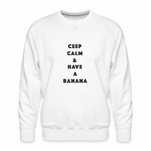 Ceep calm - Premium-genser for menn