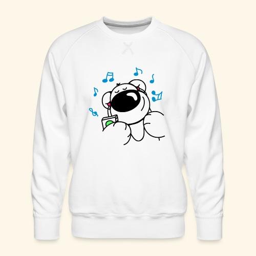 Der Bär hört Musik - Männer Premium Pullover