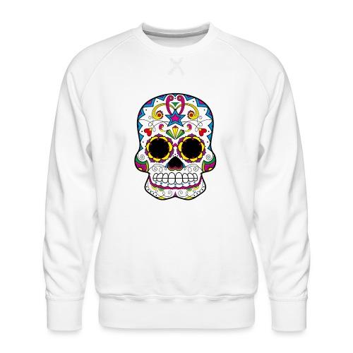 skull7 - Felpa premium da uomo