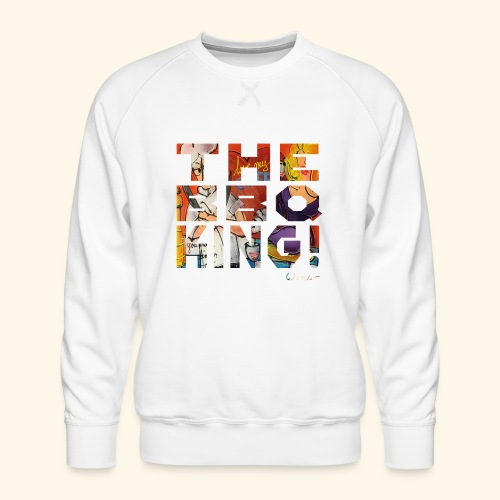 THE BBQ KING T SHIRTS TEKST - Mannen premium sweater