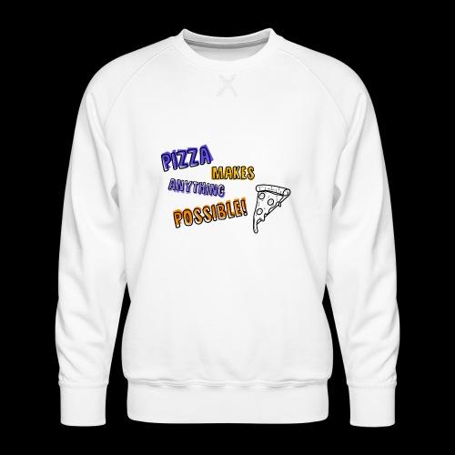 Pizza makes anything possible! - Colorful Design - Felpa premium da uomo