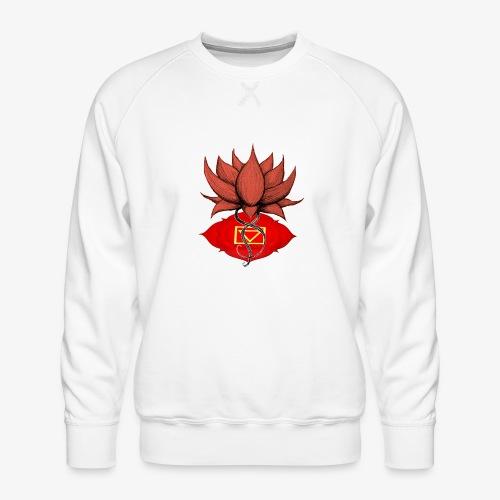 Lotus racine chakra - Sweat ras-du-cou Premium Homme