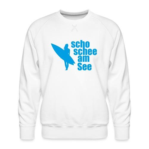 scho schee am See Surferin 03 - Männer Premium Pullover