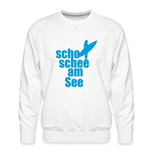 scho schee am See Surferin 02 - Männer Premium Pullover