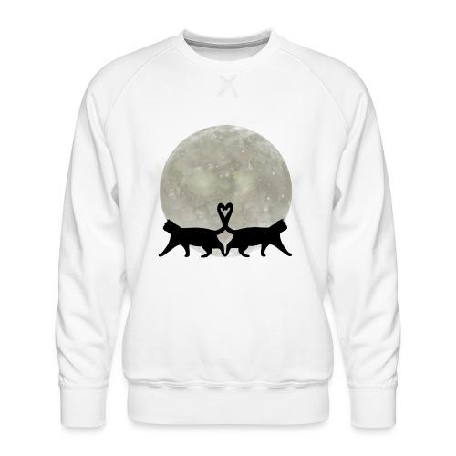 Cats in the moonlight - Mannen premium sweater