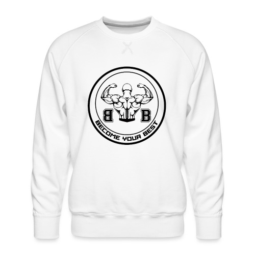 BYB logo black - Herre premium sweatshirt