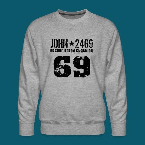 john 2469 numero trasp per spread nero PNG - Felpa premium da uomo