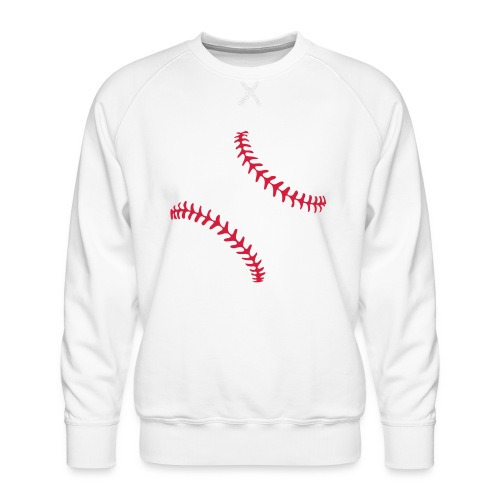 Realistic Baseball Seams - Men's Premium Sweatshirt