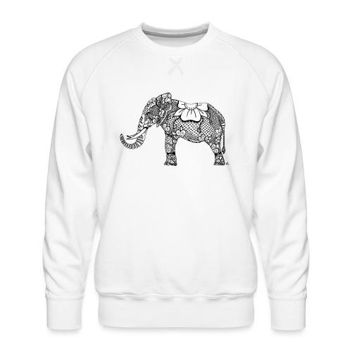 Éléphant oriental - Sweat ras-du-cou Premium Homme