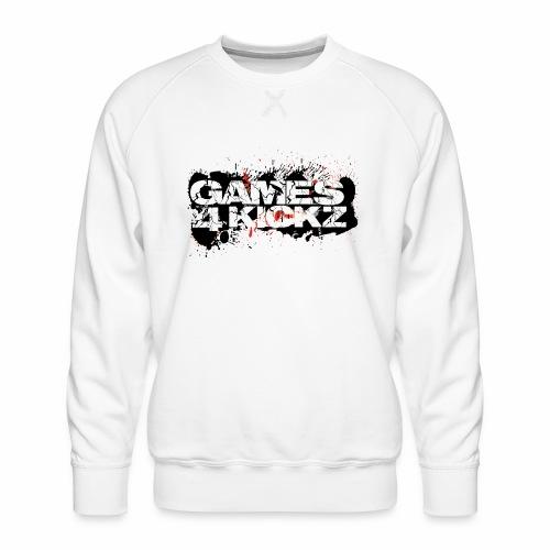 Games4Kickz Logo Splattered Background - Men's Premium Sweatshirt