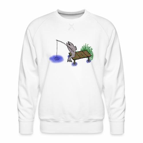 Fisch, Angler,Teich - Männer Premium Pullover