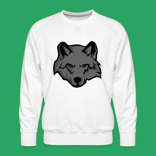wolf logo - Felpa premium da uomo