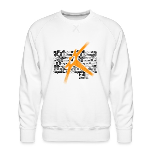 Palazzo Textblock auf weiss/on white - Männer Premium Pullover