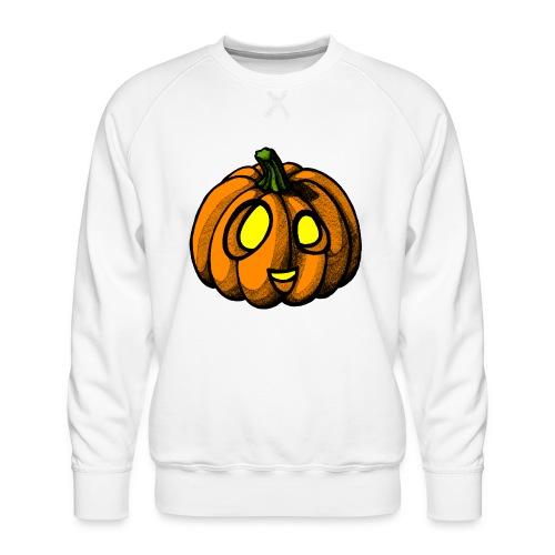 Pumpkin Halloween scribblesirii - Miesten premium-collegepaita